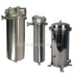 Trattamento delle acque 10 acciaio inossidabile 20 custodia del micro ss 304 316L di pollice singola & multi della cartuccia dell'acqua di filtro per il filtro dell'olio liquido industriale
