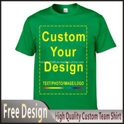 Custom 100% хлопок футболка мужчин передача тепла печать логотипа футболки тройника