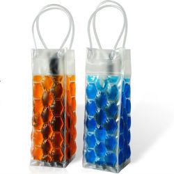 Рекламные портативный пластиковый ПВХ вина или шампанского охладитель мешок льда