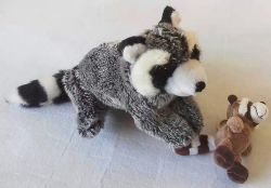 Giocattolo dell'animale domestico del prodotto del rifornimento dell'animale domestico del giocattolo del cane di Racoon della peluche