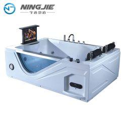 Vasca calda con la vasca da bagno di massaggio della bolla di aria e della TV (5211)