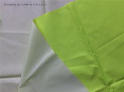 Tessuto fluorescente del taffettà del poliestere con il PVC bianco per gli impermeabili