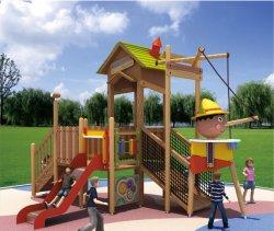 Les enfants Aire de jeux de plein air en bois fabriqués en Chine