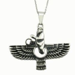 Aço inoxidável jóias Fly Eagle pendente manual