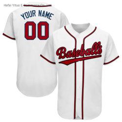 Polyester Fibres textiles conception populaire Braves Baseball blanc Vêtements unisexe