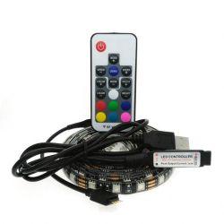 TV rétroéclairage LED RVB de Strip Light Kit USB 5 V de la lumière de l'humeur pour TV + Remote Ensemble rétroéclairage TV Bande LED 5050 RVB USB 5V