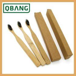 Hot Sale Hotelausstattung Kinder Körperpflege Zahnbürstenprodukte OEM Wholesale Natural Eco Bamboo Nylon Bamboo Charcoal Borste Zahnbürste für unterwegs