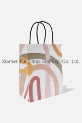 La joyería de moda promocional personalizado papel Arte impreso un bolso de mano de regalo