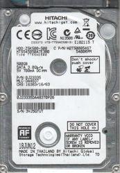 "Hitachi 500GB Hts545050A7e380 2.5 "" SATA 3.0GB/S 5400rpm 8MB Harde Aandrijving"