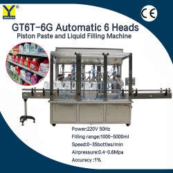 Gt6T-6g de creme de mel Automática Lado Sanitizer Loção Cosméticos Perfume Água Vinho máquina de enchimento do reservatório de líquido de colagem