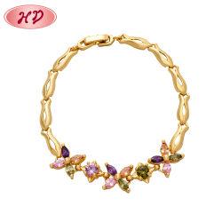 Armband van het Blad van het Kristal van de Juwelen van Zircon van vrouwen de Imitatie