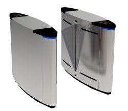 Sensor de infrarrojos de lujo en Arc inclinado automática inteligente ala puerta barrera magnética torniquete mariposa