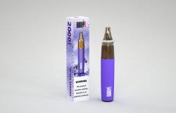 미국 고온 직접 판매 2000퍼프 일회용 E 담배 투명 Cartomizer