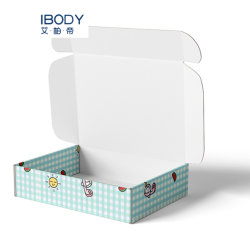 Logo personnalisé des cartons expédition Mailer Box Cosmétiques Les cosmétiques Boxeshot d'emballage en carton ondulé de diffusion de la vente des produits