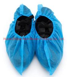Prüfung der Xiantao Fabrik-Fertigung-CNAS bestätigte Gesundheits-Schuh-Deckel des Non-Medical Zubehör-Plastikangebot-blauen maschinell hergestellten pp. nichtgewebten