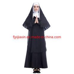 Halloween-Kostüm-erwachsener reizvoller Frauen-Jesus Christus-Missionskanzleimäßige Kleid-Maria-Nonnen-Roben