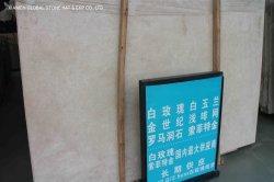 Venda por grosso Bege/Preto/Cinza Pedra Natural White Rose lajes de mármore bancada interior do piso de azulejos de parede
