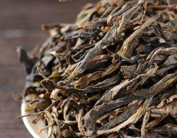 Yunnan großer Baum Pu'er Pulver Tee Roher Tee Claasic Sonne Grüne Blätter gepflanzt Pu'er Tee