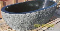 Surface solide pierre naturelle autostable marbre/granit baignoire pour la décoration d'accueil