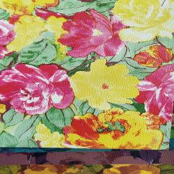 As flores de impressão PU Couro Natural para Sacos de calçados decoração (HS-PRINTpu3)