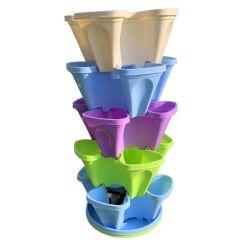 2020 новых клубничный наращиваемые Flower Pot овощей растет колонны вертикальной земледелия Aeroponic гидропоники сеялки в корпусе Tower