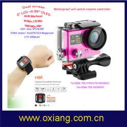 Realmente original 4k/30fps deporte cámara H8r Wireless de la cámara de vídeo de 170º 16MP/360vr Wfi 2.4G resistente al agua de la cámara de acción de mando a distancia