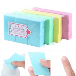 4 couleurs 1000pcs ongles naturels Gel Remover serviette de coton, produits de manucure professionnel Outils de dépose de la beauté de gros de fournitures