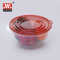 Ronda de pequeno recipiente de comida de plástico à prova de fugas com Caixa de arrumação para manter os alimentos frescos