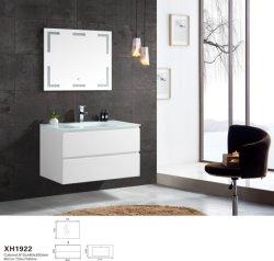 Mundo de la cuenca del vidrio populares de la vanidad de baño con espejo LED