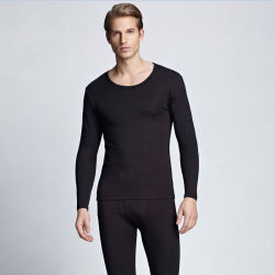 Os homens de Manga Longa modal da roupa interior quente (005)
