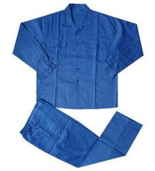 青いカラーTc作業スーツ007