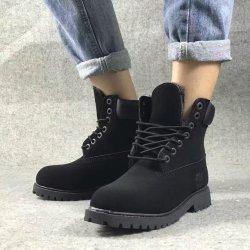 Raquetas de nieve de caucho de alta calidad militar de cuero zapatillas botas impermeables