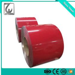 Rol van uitstekende kwaliteit van het Staal Ral3020 PPGI van 0.45mm de Kleur Met een laag bedekte