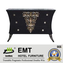 Изысканный черный деревянный шкаф гостиной декоративной шкаф (EMT-DC04)