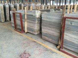 Lastre di marmo di Serpeggiante dell'argento di legno grigio-chiaro della vena