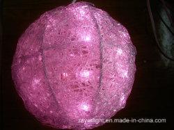 Sfera Lighst del PVC della decorazione di natale dell'indicatore luminoso della sfera del LED 25cm