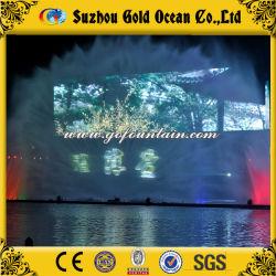 El lago de agua para el proyector de pantalla de forma de ventilador de la película de agua
