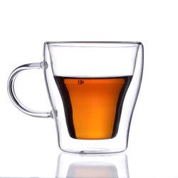 Bb37875-Высокий Боросиликатного прозрачных двойные стенки кружки кофе чашки