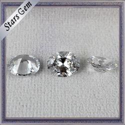 인기 있는 핫 세일 오벌 쉐이프 화이트 샤인 CZ for Jewelry