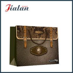 Personalizar Estilo saco de couro papel impresso transportadora comercial Dom Bag