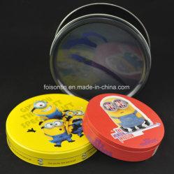 Caixa de estanho relevo personalizados com design especial fornecimento fábrica caixas metálicas Grau Alimentício Embalagem para Alimentos Dom titular de chá de vinho ou pode