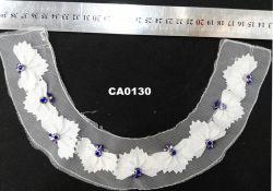 Handmade fleur blanche Collier de perles pour garniture d'accessoires du vêtement
