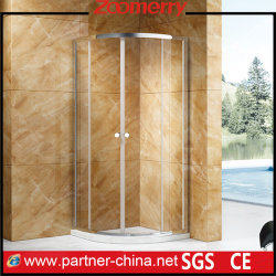 Formato do ventilador no canto da porta de correr em vidro chuveiro / Unidades de clausura