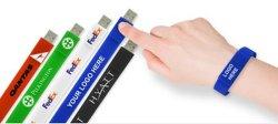Cadeau promotionnel USB Bracelet en silicone avec Custom Bracelet Bracelet de mémoire flash USB
