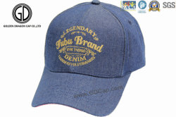 La moda Denim Cool Unisex Deportes Gorra con logo bordado