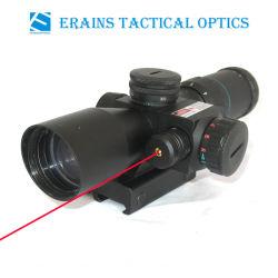 2.5-10X32 compatto Rifle Scope Red Green Mil-DOT Reticle con il laser Sight Combo (FDA di Side Attached Red certificati)