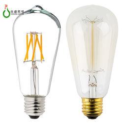 Certification LVD et type d'élément des feux d'ampoule LED Lampe à incandescence ST64