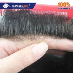 Сверхтонкий количество впрыскиваемого топлива человеческого волоса Toupee кожи для мужчин