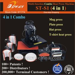 4-in-1-Combo Ceramics Coffee Cup Becher Thermal Hot Heat Transfer Press Printing Machine