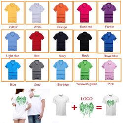 El logotipo de Venta caliente Serigrafía impresa Hombres camiseta de algodón